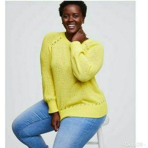 LOFT Plus Pointelle Blouson Sleeves Sweater 16-18